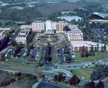 Ariel View of the Scripps Memmorial Hospital campus.